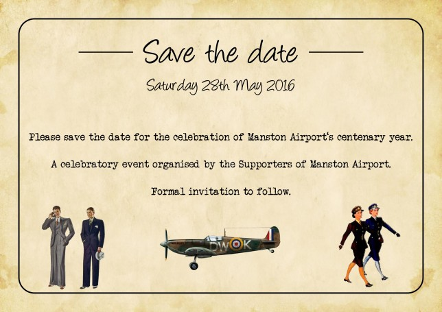 Save The Date - Manston Airport Centenary