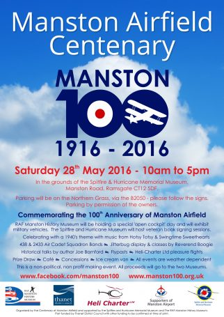 Manston Airfield Centenary A4 Poster RGB